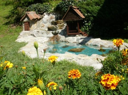 Fontanica u dvorištu Oaze mira